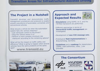 Interactive Symposium Poster: Transition Areas for Infrastructure-Assisted Driving (TransAID)
