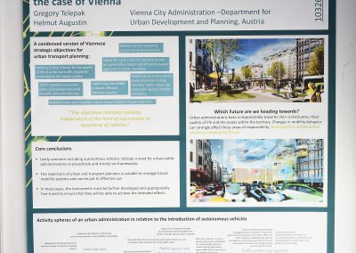 Interactive Symposium Poster: Automated Vehicles in a Major European City - A Technical Perspective on Urban Transport Policy Options: The Case  of Vienna