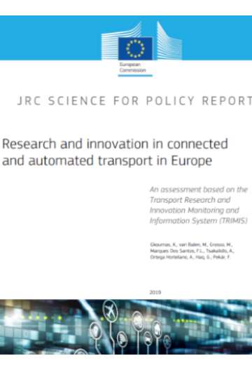 JRC published a policy report on research and innovation in connected and automated transport in Europe