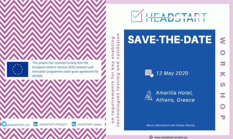 Join HEADSTART's second technical workshop is postponed