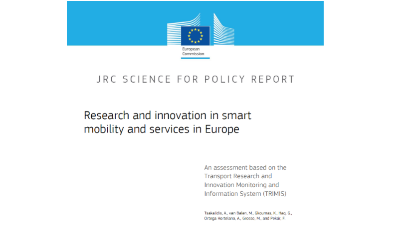 Research and innovation in smart mobility and services in Europe – a report by JRC