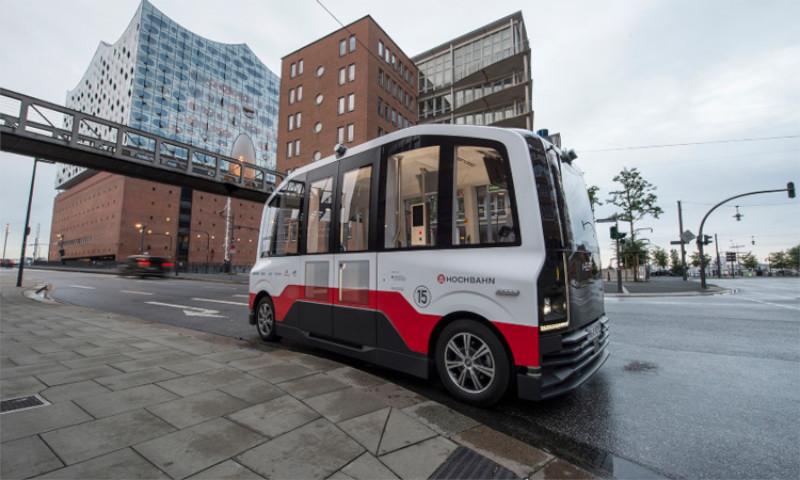 Autonomous bus project trials in Hamburg