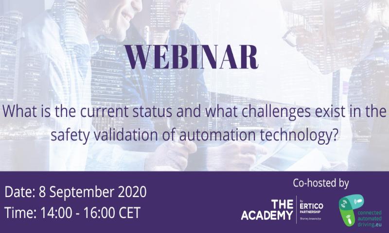 ARCADE's webinar – status and challenges in safety validation of automation