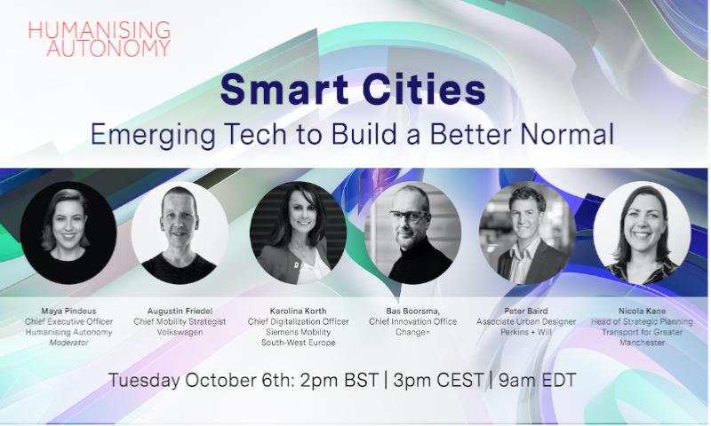 Smart Cities Webinar: Emerging Tech to Rebuild a Better Normal